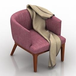 Armchair plaid 3d model