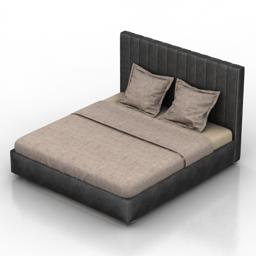 Bed Newberry Dantone home 3d model
