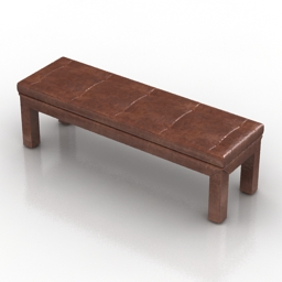 Bench leather 3d model