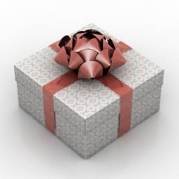 Box present 3d model