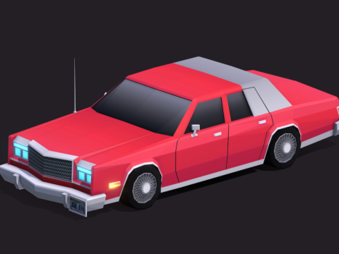 Cartoon Low Poly Chrysler New Yorker