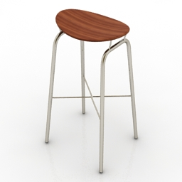 Chair GUBI Nagasaki Stool 3d model