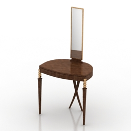 Dressing table Christopher Guy Statuesque Mirror 3d model