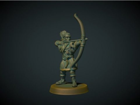 Elf archer 28mm (no supports needed)
