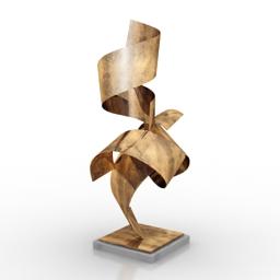 Figurine Henley 3d model