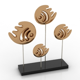 Figurine fishes 3d model
