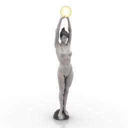 Figurine woman light 3d model