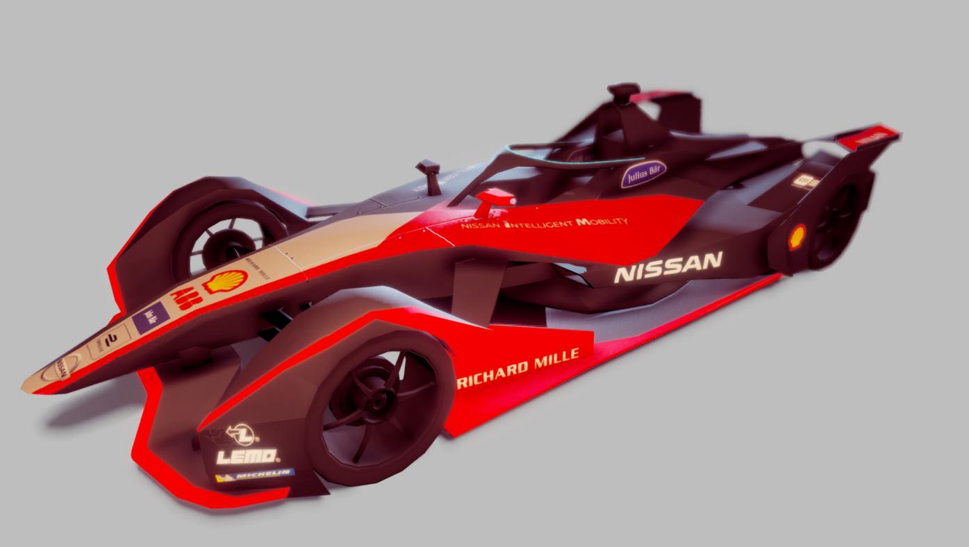 Formula E Nissan Gen2 2019/202 Lowpoly
