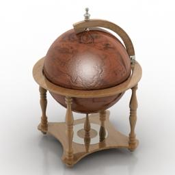 Globe decor 3d model