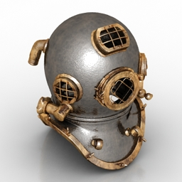 Helmet diver retro 3d model