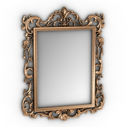 Mirror gold frame 3d model