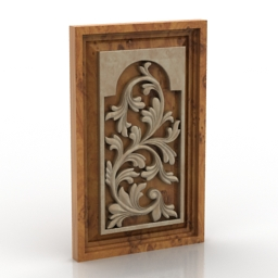 Panel carving 3d model