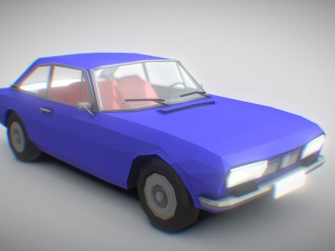 Peugeot 504 coupé [Low Poly]