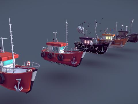 Ships drafts lowpoly models