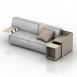 Sofa Cassina Phillippe Stark 3d model
