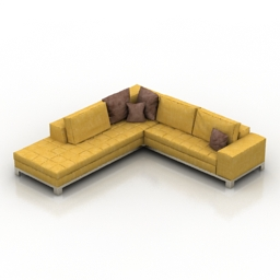 Sofa IKEA Nogersund 3d model
