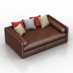 Sofa-bed Ripley Dantone home 3d model