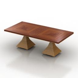 Table Bernhardt Jet Set Double Pedestal Dining 3d model