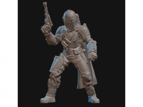 The Mandalorian (with upgraded Beskar armor) Miniature