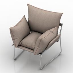 Armchair ELISA by Driade 3d model