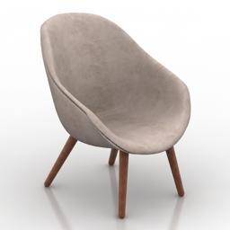 Armchair hay 3d model