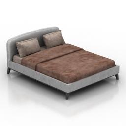 Bed Linkoln Dantone home 3d model