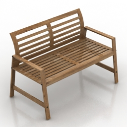 Bench IKEA Eplaro 3d model