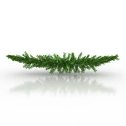 Branch christmas 3d model