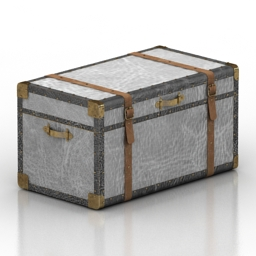 Chest Zimmer Trunk Pottery Barn 3d model
