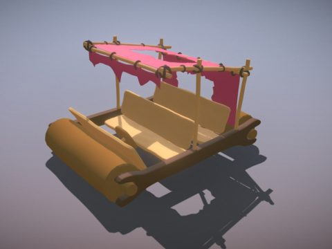 Flintstone Car 3D Model