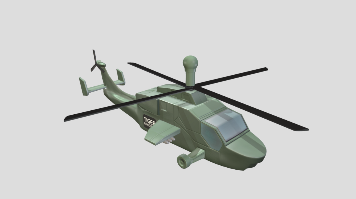 Helicopter toy from Sega's Goldeneye Pinball