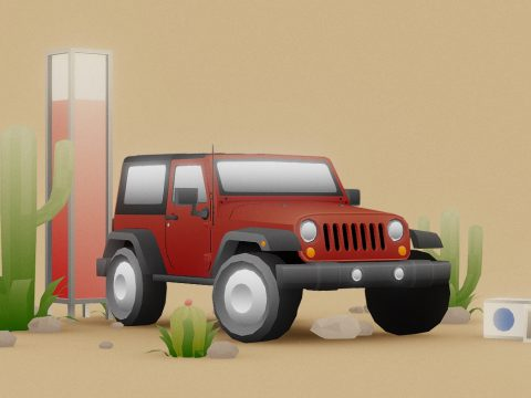 Jeep Low Poly