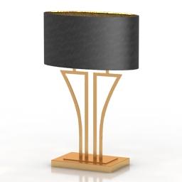 Lamp Heathfield & Co Yves Antique Brass 3d model