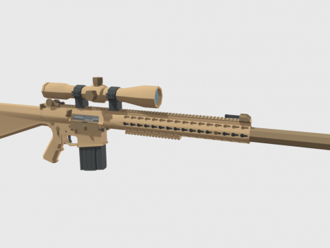 Low Poly M110 SASS Rifle