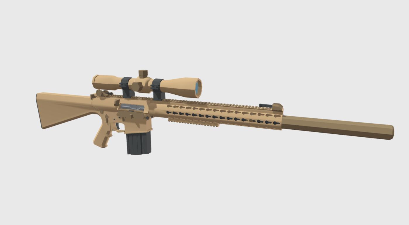Low Poly M110 SASS Rifle