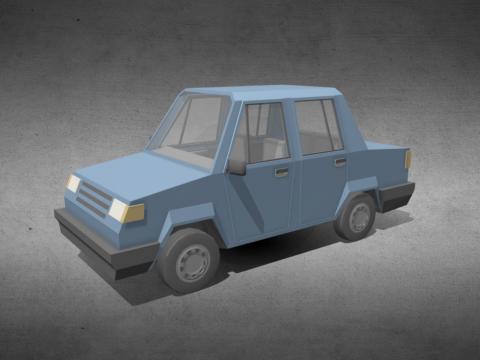 Low-Poly Sedan car