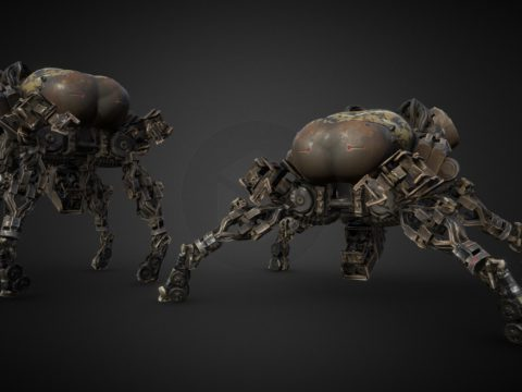 Low Poly Spider Tank