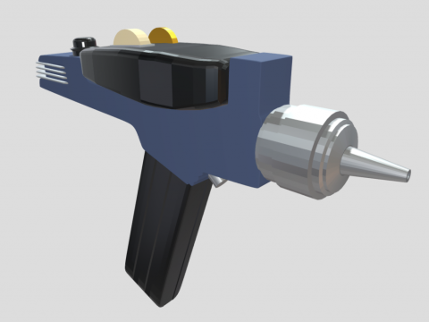 Low Poly Star Trek Phaser Gun