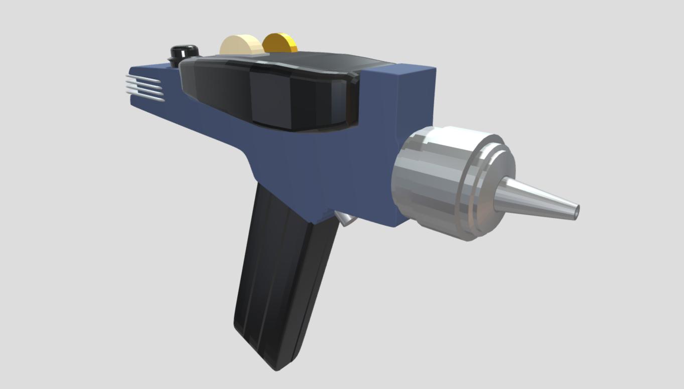 Low Poly Star Trek Phaser Gun