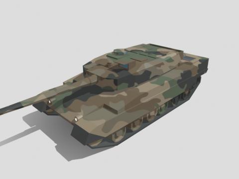 Low Poly Type-90 Kyū-maru