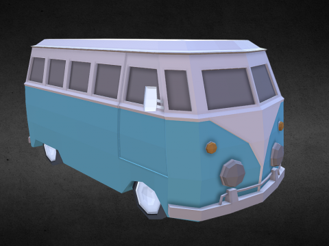 Lowpoly Van (inspired by Volkswagen Type 2)