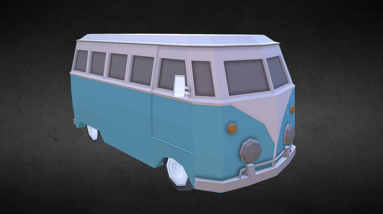 Lowpoly Van (inspired by Volkswagen Type 2)