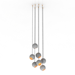 Luster 3 Kids of color Pendant Lights chandeliers italy 3d model