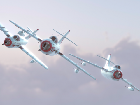 Mig-15 low poly