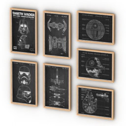 Posters Wall Decor Star Wars 3d model