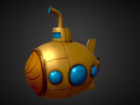Submarine Low-poly