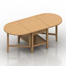 Table IKEA Arkelstrop 3d model