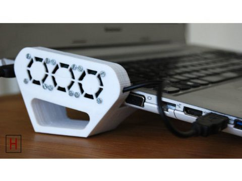 Universal laptop cooler with stand