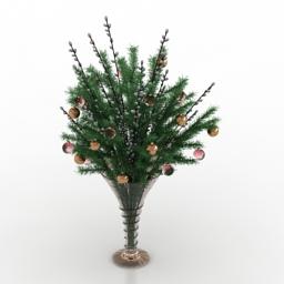 Vase Christmas 3d model
