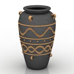 Vase Minoan pottery Pithos 3d model